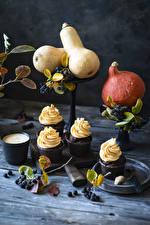Wallpaper Still-life Pumpkin Berry Cappuccino Cupcake Boards