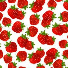Bilder Textur Erdbeeren Weißer hintergrund