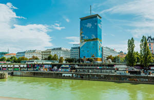 Bilder Österreich Wien Haus Flusse