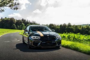 Sfondi desktop BMW Nero 2018 Biturbo Manhart M5 V8 F90 723 MH5 autovettura