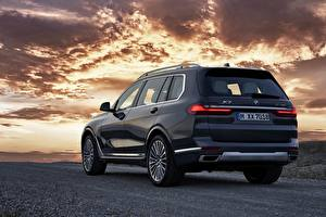 Desktop wallpapers BMW Back view Crossover 2019 X7 G07 Cars