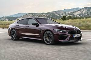 Wallpaper BMW Motion Coupe M8 Gran F93 2019 Cars