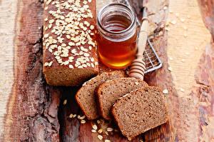 Bilder Brot Honig Bretter Einweckglas Geschnittene Stück Lebensmittel