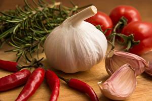 Hintergrundbilder Chili Pfeffer Knoblauch Tomate