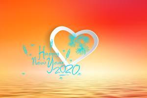 Fotos & Bilder Neujahr Herz Wort 2020 Fantasy Mädchens