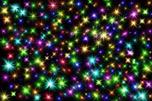 Fotos & Bilder Neujahr Textur Stern-Dekoration Mehrfarbige Lichtstrahl 3D-Grafik