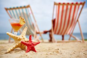Image Mixed drink Starfish Resorts Bokeh Sand Beach Stemware Sunlounger Food
