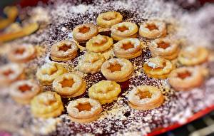Wallpaper Cookies Baking Powdered sugar Star decoration Food