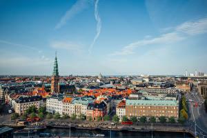 Wallpapers Denmark Copenhagen Building Pier Street From above Cities