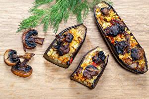 Hintergrundbilder Dill Aubergine Pilze Reis das Essen