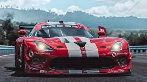 Hintergrundbilder Dodge Vorne Strips Rot Viper SRT by Wallpy Forza Horizon 3 Spiele Autos