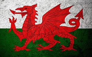Fotos Drachen Vereinigtes Königreich Flagge Wales