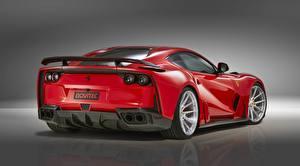 Hintergrundbilder Ferrari Rot Metallisch Hinten Novitec, N-Largo Superfast 812 2019 Autos