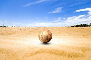 Hintergrundbilder Fußball Ball Sand Alte