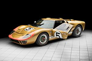 Bilder Ford Gold Farbe GT40 1966 24 Hours of Le Mans Autos