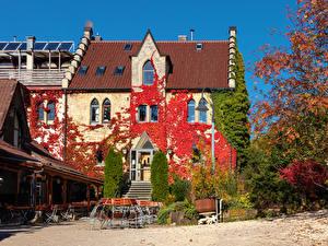 Fotos & Bilder Deutschland Herbst Haus Restaurant Straßenlaterne Swabian Alps Städte