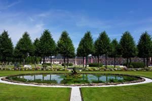 Hintergrundbilder Deutschland Park Springbrunnen Palast Rasen Bäume Schwetzingen Palace Natur