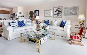 Fotos & Bilder Innenarchitektur Sofa Kissen Sessel Lampe Tisch Wohnzimmer Design Natur