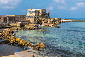 Bilder Israel Küste Gebäude Stein Caesarea Städte