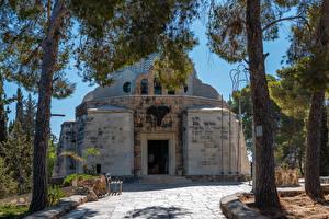 Bilder Israel Tempel Kirchengebäude Bäume Holy Land in Bethlehem