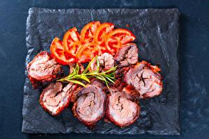 Fotos & Bilder Fleischwaren Tomate Geschnitten Lebensmittel