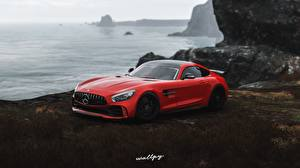 Images Mercedes-Benz Forza Horizon 4 Red AMG 2018 GT R by Wallpy vdeo game Cars