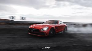 Fotos & Bilder Mercedes-Benz Forza Horizon 4 Rot Bewegung AMG 2018 GT R by Wallpy Autos