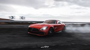 Photo Mercedes-Benz Forza Horizon 4 Red At speed AMG 2018 GT R by Wallpy auto