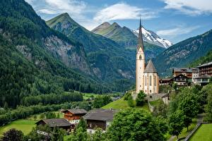 Fotos & Bilder Gebirge Kirche Haus Österreich Alpen Heiligenblut Natur