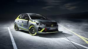 Sfondi desktop Opel Grigia Corsa-e Rally Auto
