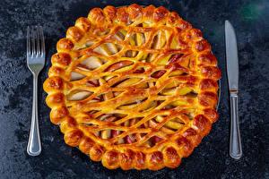 Bilder Backware Obstkuchen Messer Essgabel Charlotte Lebensmittel