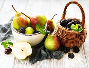 Pictures Pears Blackberry Bowl Wicker basket