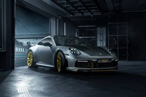 Hintergrundbilder Porsche Graue 911 Carrera TechArt 992 2019 Autos