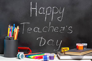 Photo School Holidays Stationery English Pencil Happy Teacher's Day