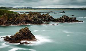 Fotos Schottland Küste Felsen Bucht Cruden Bay Aberdeenshire Natur