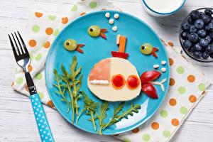 Fotos & Bilder U-Boot Kreativ Gabel Teller Lebensmittel