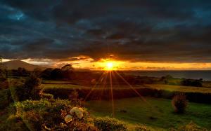 Fotos Morgendämmerung und Sonnenuntergang Lichtstrahl Sonne Natur