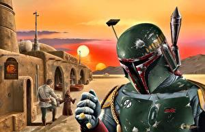 Fotos Krieger Star Wars  - Film Helm Fan ART Boba Fett Fantasy