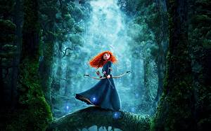 Fotos Bogenschütze Merida – Legende der Highlands Rotschopf Merida Mädchens