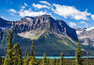 Fotos Kanada Park Gebirge See Banff Natur