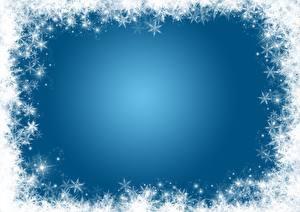 Fotos Neujahr Schneeflocken Vorlage Grußkarte