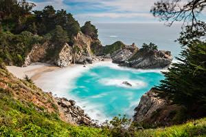 Hintergrundbilder Küste Vereinigte Staaten Kalifornien Kleine Bucht