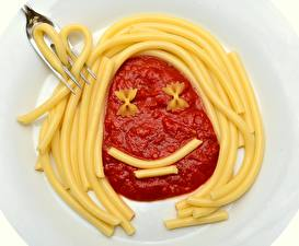 Images Creative Fork Smile Pasta Ketchup Food