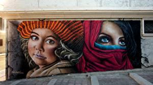 Image Eyes Graffiti Wall Face Staring
