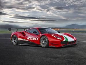 Bilder Ferrari Rot Evo GT3 488 auto