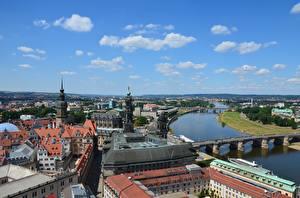 Fonds d'écran Allemagne Dresde Rivières Ponts Maison Elbe