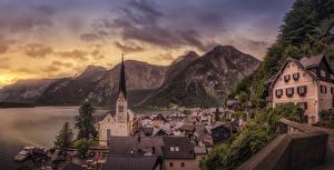 Fotos Hallstatt Österreich Berg Haus See Städte