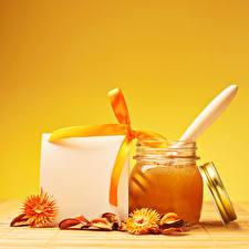 Fotos Honig Schleife Weckglas Vorlage Grußkarte das Essen