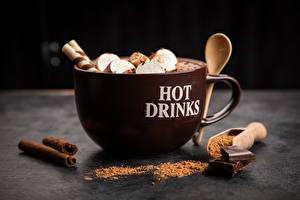 Pictures Hot chocolate drink Mug Cocoa solids Marshmallow Food