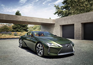 Fotos & Bilder Lexus Grün Metallisch 2020 LC 500 Inspiration Series Autos
